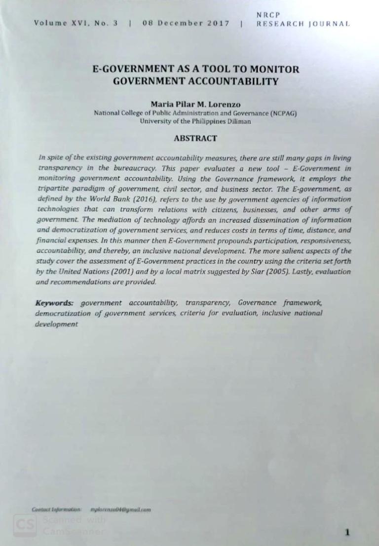 E-government page 1