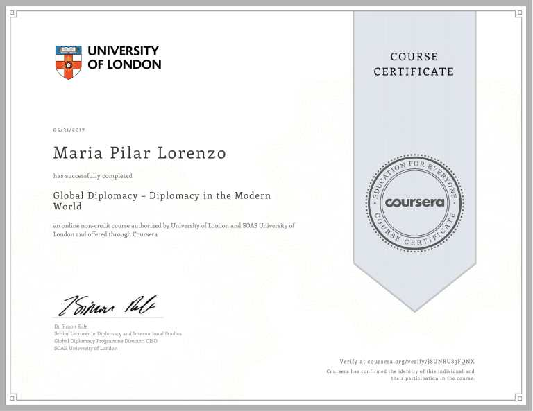 UNIV OF LONDON Global Diplomacy -1
