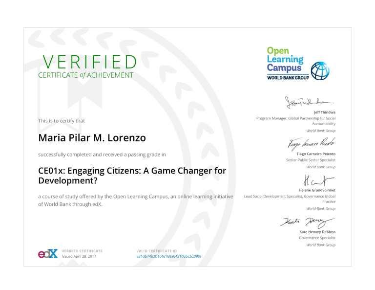 WORLD BANK Citizen Engagement Cert-1
